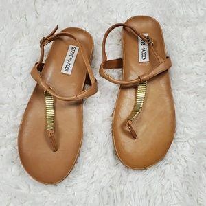 Steve Madden Dorthee Brown Leather Sandals 7.5
